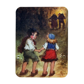 Hansel and Gretel Head Into the Woods Magnet