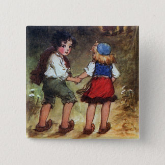 Hansel and Gretel Head Into the Woods Pinback Button