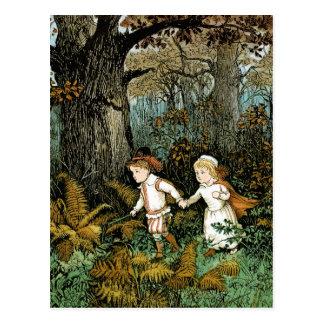 Hansel and Gretel Illustration Postcard