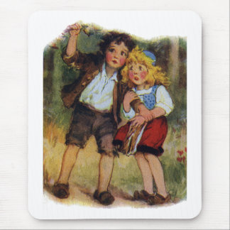 Hansel and Gretel Lost in the Woods Mouse Pad