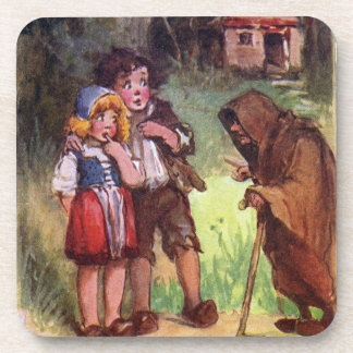 Hansel and Gretel Meet the Witch Drink Coaster