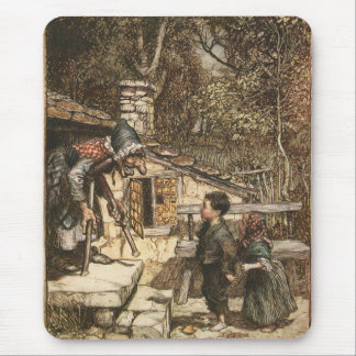 Hansel and Gretel Meet the Witch Mouse Pad