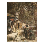 Hansel and Gretel Meet the Witch Post Card