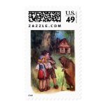 Hansel and Gretel Meet the Witch Postage