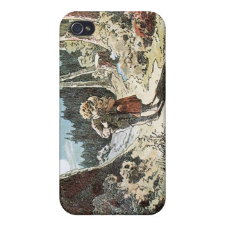 Hansel and Gretel on the Path in the Moonlight iPhone 4/4S Cases