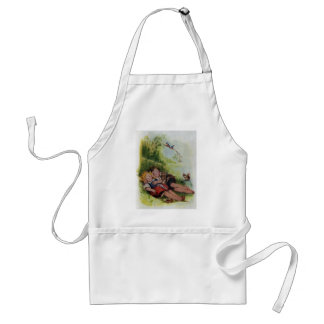 Hansel and Gretel Sleeping in the Woods Adult Apron