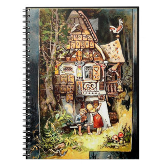 Hansel and gretel vintage art notebook