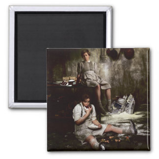 Hansel and Gretel with Chocolate Cake Magnet
