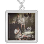 Hansel and Gretel with Chocolate Cake Personalized Necklace