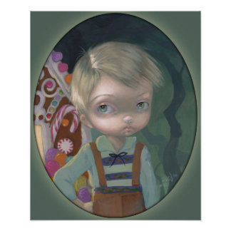 Hansel ART PRINT big eye lowbrow Gretel candy
