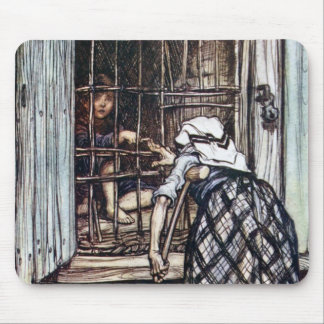 Hansel Caged by the Witch Mouse Pad