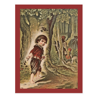 Hansel Entering the Woods with Bread Crumbs Postcard