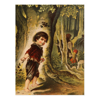 Hansel Entering the Woods with Breadcrumbs Postcard