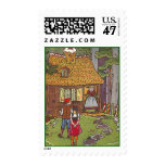 Hansel & Gretal Gingerbread cottage POSTAGE STAMP
