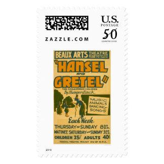 Hansel & Gretel Boston 1940 WPA Postage