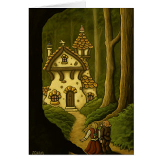 Hansel & Gretel fairytale notecard