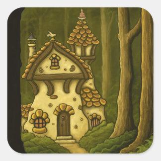hansel & gretel fairytale square sticker