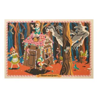 Hansel & Gretel Wood Print 36x24