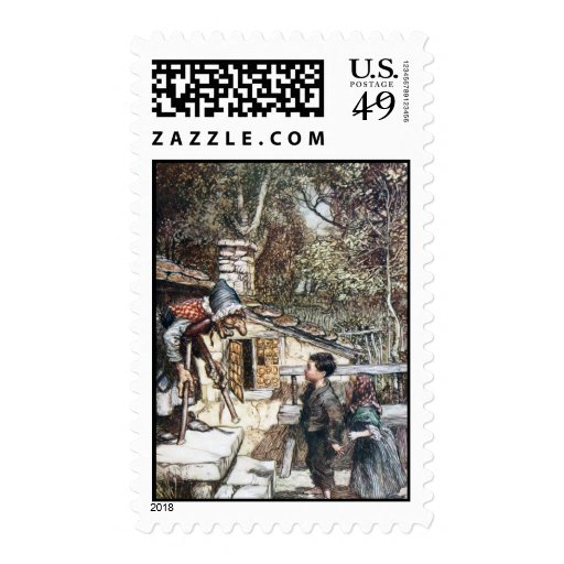 Hansel & Grethel meet the Witch Stamp