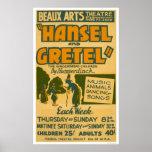 Hansel y Gretel Boston WPA 1940 Poster