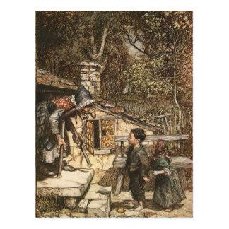 Hansel y Gretel encuentran a la bruja Postales