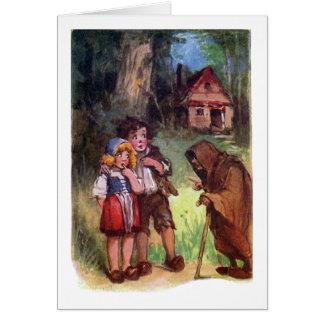 Hansel y Gretel encuentran a la bruja Tarjeta De Felicitación