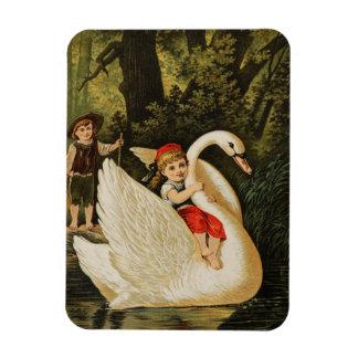 Hansel y Gretel y el cisne Imanes