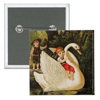Hansel y Gretel y el cisne Pin Cuadrada 5 Cm