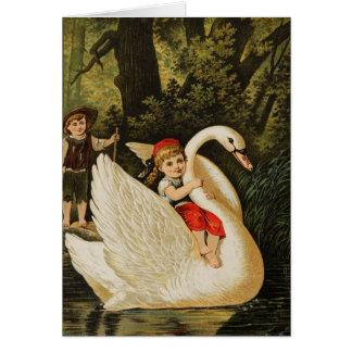 Hansel y Gretel y el cisne Tarjeta De Felicitación