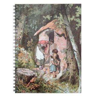 Hansel y Gretel y la bruja en la puerta Libretas Espirales