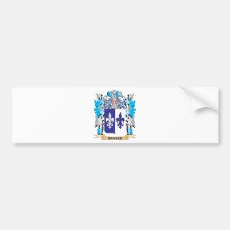 Hansen- Coat of Arms - Family Crest Bumper Sticker