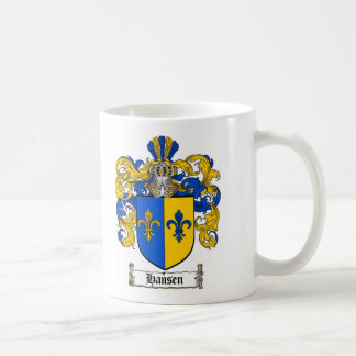 HANSEN FAMILY CREST -  HANSEN COAT OF ARMS COFFEE MUG