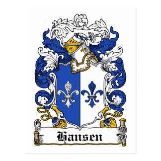 Hansen Family Crest Postcard