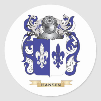 Hansen-(Sweden) Coat of Arms (Family Crest) Classic Round Sticker