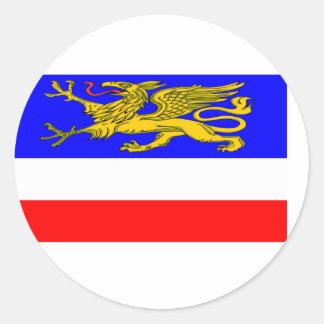 Hansestadt, bandera de Alemania Etiqueta Redonda