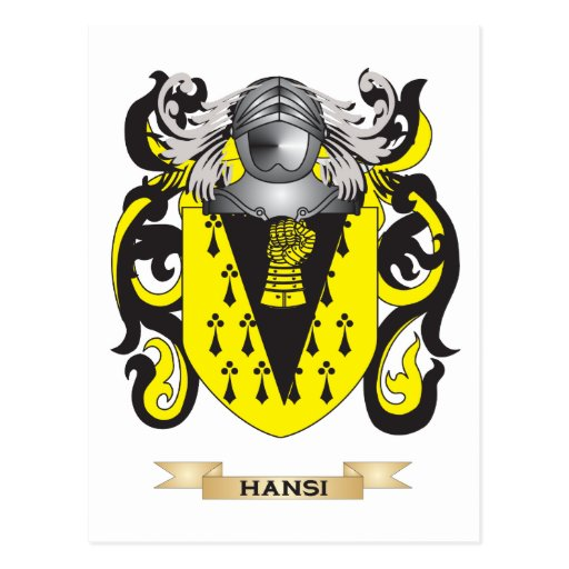 Hansi Coat of Arms (Family Crest) Postcards
