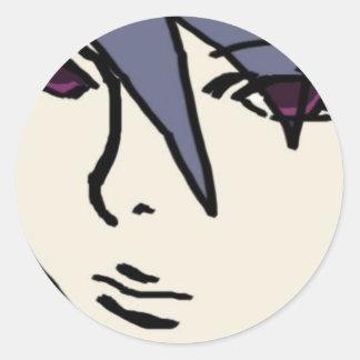 hansome lad classic round sticker