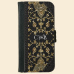 Hanterpost 6/6s Old Book Style Monogram Wallet Phone Case For iPhone 6/6s