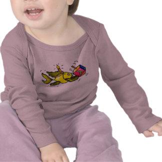 HANUKA SPARKY FISH Funny Cute Cartoon Infant Shirt