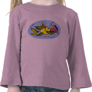 Hanuka vivaracho - camiseta larga linda divertida