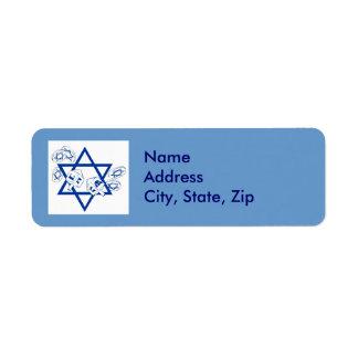 Hanukah Gelt and Dreidels Label