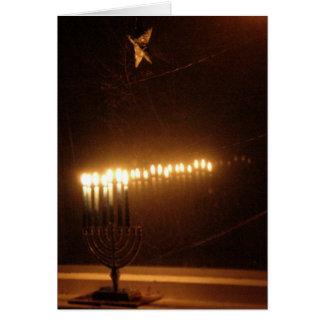 Hanukah lights greeting card