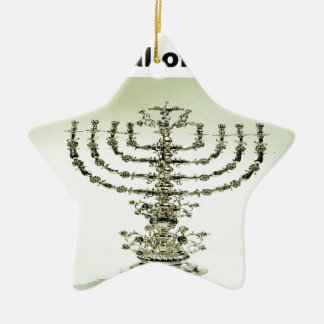 Hanukka - festival de luces adorno navideño de cerámica en forma de estrella