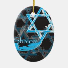 Hanukkah 2017 Ornament - Stars Of David at Zazzle