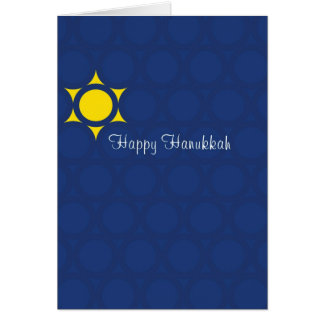 Hanukkah Abstract Star of David Card