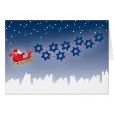 Hanukkah And Christmas Card at Zazzle