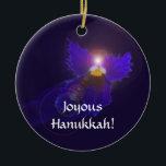 "Hanukkah Angel Ornament<br><div class=""desc"">A tiny blue angel,  an original design based on the patterns of the deepest blue Viola blossom.</div>"