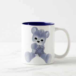 Hanukkah Bear Two-Tone Coffee Mug
