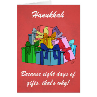 Hanukkah, because eight days of gifts! Toon card