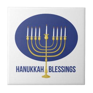 Hanukkah Blessings Ceramic Tile